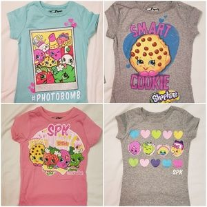 4 Shopkins T Shirts Size 4 and 4/5